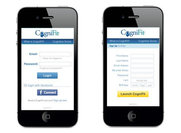 cognifit.com - pantallas de la versión móvil de CogniFit